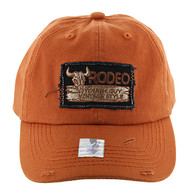 BM151 Rodeo Vintage Buckle Cap (Solid Texas Orange)