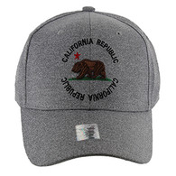 VM135 Cali Bear Buckle Cap (Solid Heather Grey)