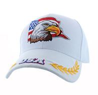VM225 American USA Eagle Velcro Cap (Solid White)