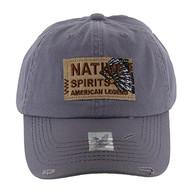 BM151 Native Spirits Buckle Cap (Solid Light Grey)