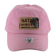 BM151 Native Spirits Buckle Cap (Solid Light Pink)