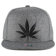 SM136 Marijuana Snapback (Heather Grey & Heather Grey)