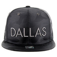 SM160 Dallas Snapback (Solid Black Military Camo)
