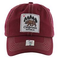 BM002 Cali Bear Buckle Cap (Solid Burgundy)