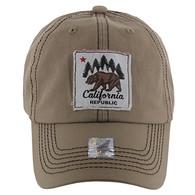 BM002 Cali Bear Buckle Cap (Solid Khaki)