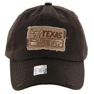 BM154 Texas Baseball Cap Hat (Solid Brown)