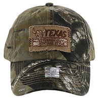 BM154 Texas Baseball Cap Hat (Solid Hunting Camo)