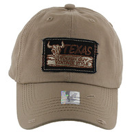 BM154 Texas Baseball Cap Hat (Solid Khaki)