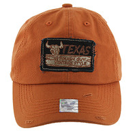 BM154 Texas Baseball Cap Hat (Solid Texas Orange)