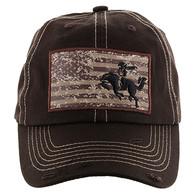 BM001 Cowboy Buckle Cap (Solid Brown)
