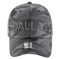 VM160 Dallas Velcro Cap (Solid Grey Military Camo)