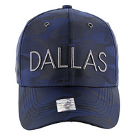 VM160 Dallas Velcro Cap (Solid Navy Military Camo)