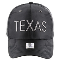 VM160 Texas Velcro Cap (Solid Black Military Camo)