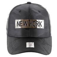 VM013 New York Velcro (Solid Black Military Camo)