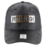 VM013 Pittsburgh Velcro (Solid Black Military Camo)