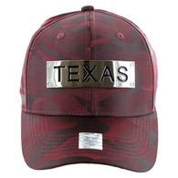 VM013 Texas Velcro (Solid Burgundy Military Camo)