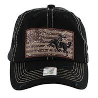 BM001 Cowboy Buckle Cap (Solid Black)