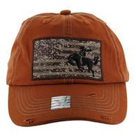 BM001 Cowboy Buckle Cap (Solid Texas Orange)
