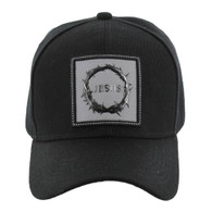 VM127 Jesus One Way Velcro Cap (Solid Black)