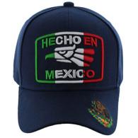 VM168 HECHO EN MEXICO Eagle Velcro Cap (Solid Navy)
