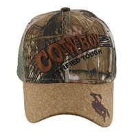 VM170 Cowboy Velcro Cap (Solid Hunting Camo)