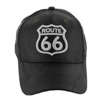 VM387 Route 66 Road Shield Velcro Cap (Solid Black Camo)