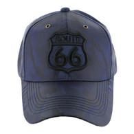 VM387 Route 66 Road Shield Velcro Cap (Solid Navy Camo)