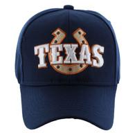 VM002 Texas Baseball Cap Hat (Solid Navy)
