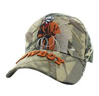 VM194 Wild Western Cowboy Velcro Cap (Solid Hunting Camo)