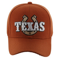VM002 Texas Baseball Cap Hat (Solid Texas Orange)