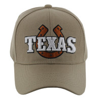 VM002 Texas Baseball Cap Hat (Solid Khaki)