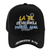 VM619 LA FE Jesus Velcro Cap (Solid Black)
