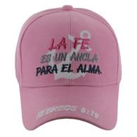 VM619 LA FE Jesus Velcro Cap (Solid Light Pink)