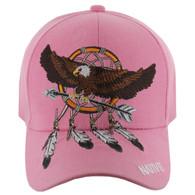 VM123 Native Pride Eagle Velcro Cap (Solid Light Pink)