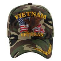 VM152 Vietnam Veteran Velcro Cap (Solid Military Camo)