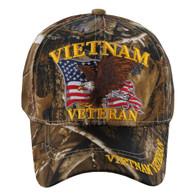 VM152 Vietnam Veteran Velcro Cap (Solid Hunting Camo)