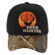 VM171 Deer Hunter Velcro Cap (Black & Camo)