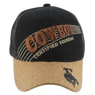 VM170 Cowboy Velcro Cap (Solid Black)