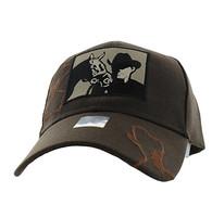 VM193 Malboro Cowboy Velcro Cap (Solid Brown)