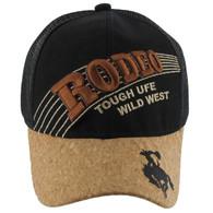 VM170 Rodeo Velcro Cap (Solid Black)