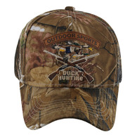 VM120 Duck Hunting Velcro Cap (Solid Hunting Camo)