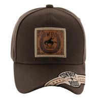 VM110 Cowboy Velcro Cap (Solid Brown)