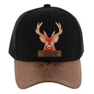 VM121 Deer Hunter Velcro Cap (Solid Black)