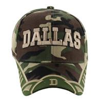 VM421 Dallas City Velcro Cap (Military Camo & Olive)