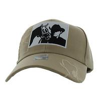 VM193 Malboro Cowboy Velcro Cap (Solid Khaki)