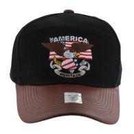 VM103 American USA Eagle Cap (Solid Black)