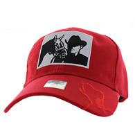 VM193 Malboro Cowboy Velcro Cap (Solid Red)