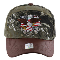 VM103 American USA Eagle Cap (Solid Hunting Camo)