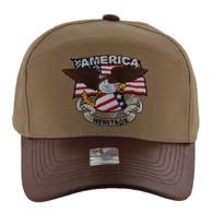 VM103 American USA Eagle Cap (Solid Khaki)