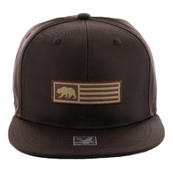 SM1007 Cali Bear Snapback Cap (Solid Brown)